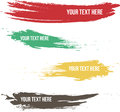 Set of brush stroke labeling with more various color and shape Stock Photo