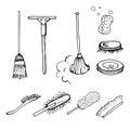 Set of brushes. Royalty Free Stock Photo
