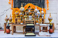 Set of Buddhist altar table is the focal point from which one ushers in fulfillment, happiness and wealth into their homes