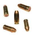 Set bullet isolated on white background ammunition Stock Photo