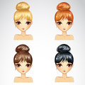 Set Of Bunch Hairstyling