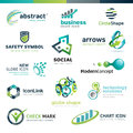 Set of business abstract icons vector Royalty Free Stock Images