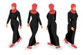 Set of business arab woman character with hijab. Royalty Free Stock Photo