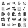 Set of business and audit icons in simple design. Vector illustration