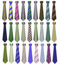 set of business business ties on a white backg Royalty Free Stock Photo