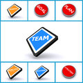 Set of business buttons Stock Image