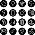 Set of business buttons illustrated different black isolated on white background Stock Images