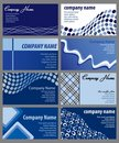 Set of Business Card Designs Stock Photo
