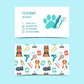 Set of business cards for animal grooming. Promotional products. Flat design. Vector Royalty Free Stock Photo