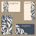Set of business Cards. Beauty designs. Vintage invitation Royalty Free Stock Photo