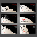 Set of business cards for beauty and hair salons, Royalty Free Stock Photo
