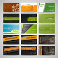 Set of business cards vector Stock Image