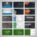 Set of business cards vector Stock Photo
