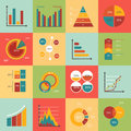 Set of business data market elements, diagrams
