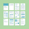 Set of business a documentation templates Royalty Free Stock Image