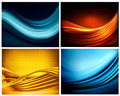 Set of business elegant abstract backgrounds.