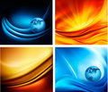 Set of business elegant colorful abstract backgrou Royalty Free Stock Images