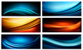 Set of business elegant colorful abstract backgrou backgrounds vector illustration Royalty Free Stock Photo