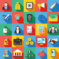 Set of 25 business icon. Flat Vector illustration