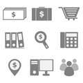 Set of business icons on white background stock vector Stock Photos
