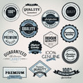 Set of business labels and elements Stock Photo