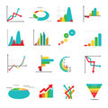 Set of business marketing dot bar pie charts diagrams and graphs Royalty Free Stock Photo