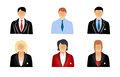 Set business people icons isolated white Stock Photo