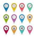 Set business pictogram icons for design your website illustration Royalty Free Stock Photography
