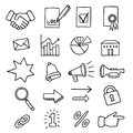 Set of 20 business related icons