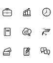 Set of business and shopping icons line drawing Royalty Free Stock Photos