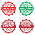 Set of business stamps Royalty Free Stock Photo