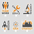 Set Business Sticker Icons Royalty Free Stock Photo