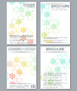 Set of business templates for brochure, flyer, cover magazine in A4 size. Structure molecule DNA and neurons. Geometric