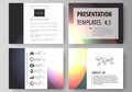 Set of business templates for presentation slides. Easy editable abstract vector layouts. Retro style, mystical Sci-Fi