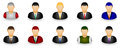 Set of businessman dummy icon in group Stock Image