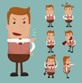 Set of businessman emotion eps format Royalty Free Stock Photo