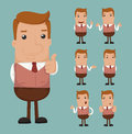 Set of businessman emotion eps vector format Stock Photos