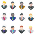 Set of businessman icon create by vector Royalty Free Stock Images