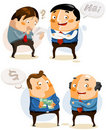 Set Businessman on vary activity Royalty Free Stock Photos