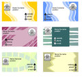 Set of bussines cards in grunge style with sample text Stock Image