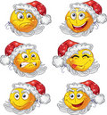 Set of butch New year smiles Royalty Free Stock Image