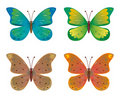 A set of butterflies Stock Images