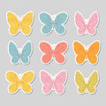 Set of butterflies. Vector illustration. Royalty Free Stock Photo