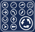 Set buttons - 4_D. Arrows Stock Photo
