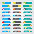 Set of buttons color can be used for infographics Royalty Free Stock Images