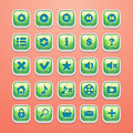 Set of buttons for glamorous game interface and Web design Royalty Free Stock Photo