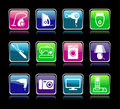 Set buttons of home appliances Royalty Free Stock Photo