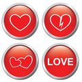 Set of buttons on the of love Royalty Free Stock Photography