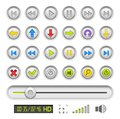 Set of buttons for media player Royalty Free Stock Photography