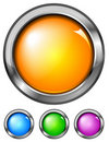 Set of buttons (NO gradient mesh) Royalty Free Stock Photos